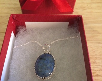 Denim Lapis Necklace