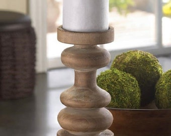 Wooden Candle Holder Modern Centerpiece