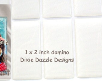 Domino seals 1x2 inch (25x50mm) 50 pieces DOMINO size clear epoxy stickers, domed cover cabochon for pendant jewelry, diy domino jewelry