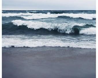 Beach Photograph - Fine Art - Nature Photography - Dark and Deep - Landscape Photograph - Nautical Decor - Lake Superior Art - Home Decor