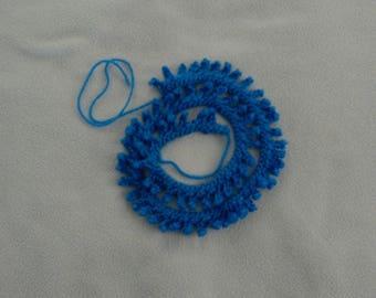 Crocheted Edging Picot Blue Trim
