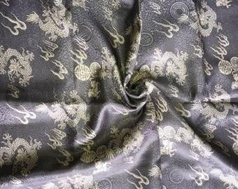 Silver Grey Silk Brocade -