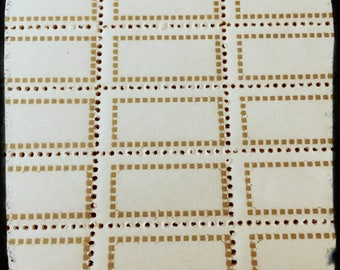 14pcs VINTAGE GUMMED LABELS European Gold Tiny