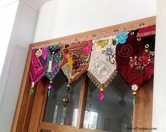 Pelmet, Door or Window, Wall Decor, Toran, Vintage Textiles, Beaded, Embroidery, Gypsy, AllThingsPretty, Bohemain, Boho Decor