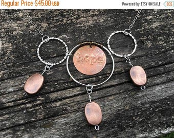 CRAZY SALE- Hope Necklace-Mixed Metals-Boho Style