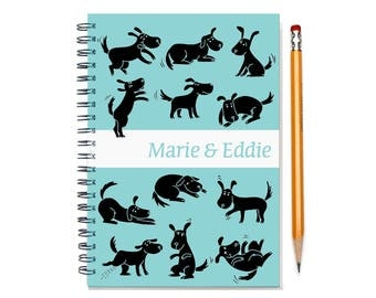 18 month custom planner, Start any month, 2017 2018 2019 personalized weekly planner for dog lover, 18 month academic planner, SKU: epi dog
