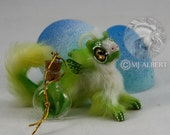 Poseable Grass Valley Elemental Doll Hatchling Hatching Egg Handmade Creature Baby Fantasy Animal Mini Gift Mjalbertsculpts