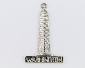 25mm Silver Washington Monument Charm#CHA185