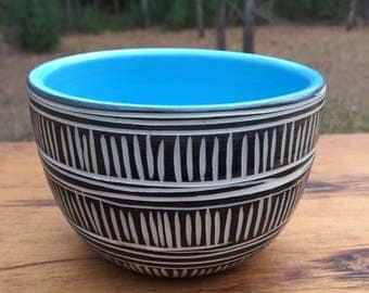 Carved Modern Porcelain Bowl
