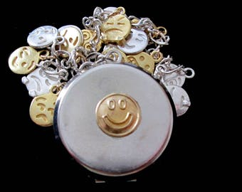 Emoji Locket Charm Bracelet - One of a Kind
