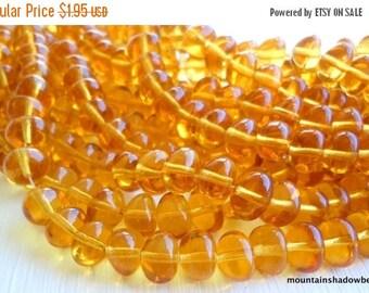 25% OFF Sale Premium Czech Beads - Topaz Glass 8mm Nugget Bead - Czech Glass Beads 25 pcs (G - 388)