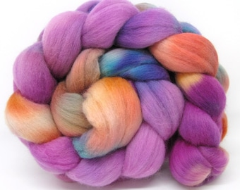 Merino Wool Hand Dyed Fine Combed Top 21 Micron 100gms - FM55