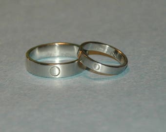 14Kt White Gold Eternity Wedding Commitment Band Set