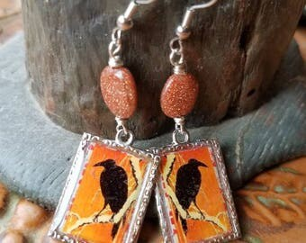 Raven Goldstone Earrings