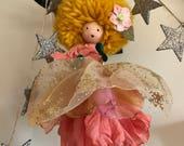 golden pompom pixie faerie ornament
