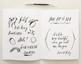 Brush-Lettering Workbook + Brush