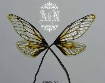 Fairy Wings - Natural Cicada S2 wings -  For OOAK Art Dolls