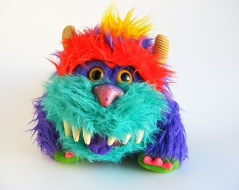 Vintage My Pet Monster Rark Puppet 1986 AmToy Plush Stuffed Animal 1980s Toy