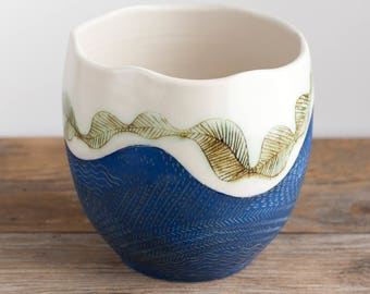 Vase - Tall Bowl - Pottery - mountain trails