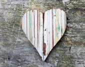 Distressed White Heart, Nursery Decor, Reclaimed Wood Heart, Wood Wall Decor, Reclaimed Wood Decor, Chippy Heart Farmhouse Decor