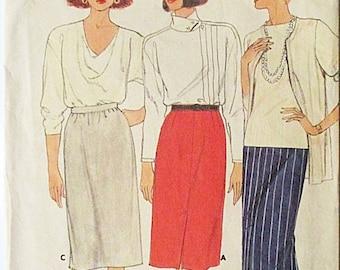 30% OFF SALE 1980s Vintage Sewing Pattern Butterick 3427 Misses Skirt Pattern Size 12, 14, 16