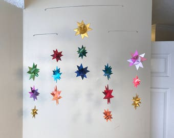 Hanging Origami Star Mobile -'Phoenix'