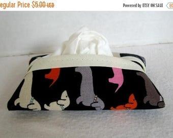 Flash Sale Dachshund Tissue Holder - Dog Pocket Tissue Case - Wiener Dog Fabric Tissue Cozy - Doxie Purse Tissue Cover