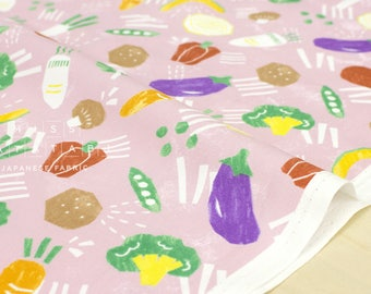 Japanese Fabric Kokka Trefle Veggies - pink - 50cm