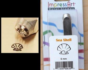 6mm Metal Stamp Tool- Seashell Nautilus Shell Seahorse Whale Sea Life Nautical