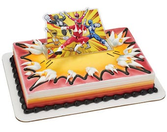Power Rangers Cake Decorating Topper Kit! NEW! Birthday Supplies