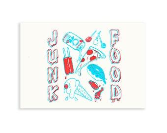 JUNK FOOD Screen Printed Poster