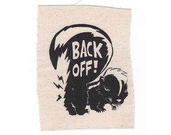 BACK OFF! Stitch-On Patch