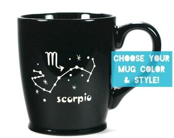 Scorpio Zodiac Constellation Mug - Choose Your Cup Color