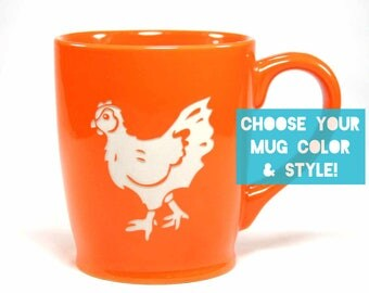 Chicken Mug - Choose Your Cup Color