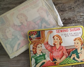 1950's Vintage Needle book Sewing Susan !