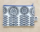 Scandinavian Flower Fabric Purse by Jane Foster