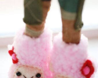 Blythe animal boots - bubblegum pink sheep