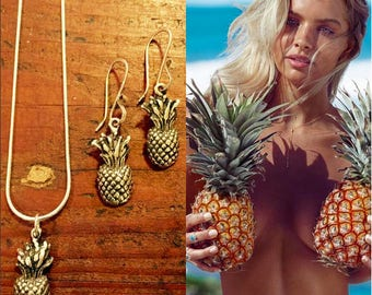 Pineapple Sterling Silver Necklace
