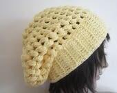 COTTON SLOUCHY BEANIES,  Crochet beanie, Fall Autumn winter fashion, slouchy beanie,  Chunky bubble slouchy beanie ,Summer beanies
