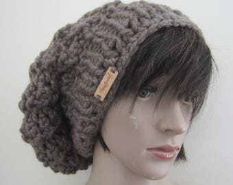 SLOUCHY BEANIE, Knit slouchy beanie, dreadlock beanie, beanie for locs, beanie for dreadlocks, knit Slouchy Hat, Slouchy Beanie Hat