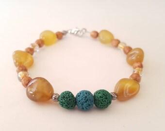 ESSENTIAL OIL Bracelet. Lava Bead Bracelet. Essential Oil Diffuser Bracelet. Essential Oil Jewelry. Agate Bracelet. Oil Diffuser