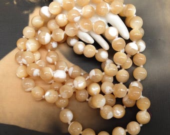 Vintage Mother of Pearl Necklace Beads
