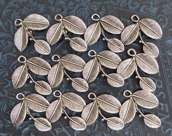 12 White Metal Flower Stems Finding Jewelry Supply