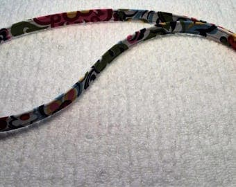 Multi Color Floral fabric lanyard for ID badge  SALE!!!!