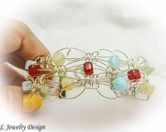 Wire Macrame Bracelet