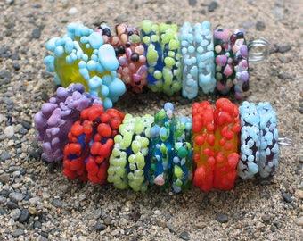 """Handmade Glass Lampwork disc disk Beads """"Misc"""" filler focal glass art"""
