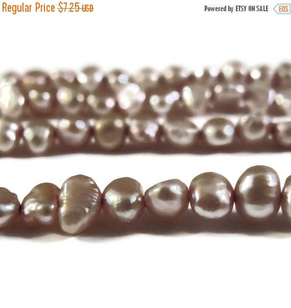 Summer SALEabration - Champagne Freshwater Pearls, Delicate Light Gold Nugget Pearls, 3.5-4mm, 15 Inch Strand, Long Drilled, Over 46 Loose P