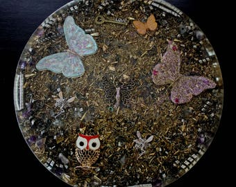 Butterfly and Faerie Orgone Energy Charging Plate