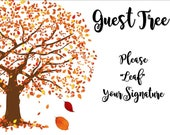 RESERVED FOR hollymitchell04 - Guest Tree Sign - Three Layers - Fall Leaves - Autumn