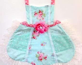 Shabby Chic  Princess Apron, girls apron, toddler apron